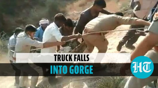 At least 10 people killed and several injured after truck fell into a gorge in UP's Etawah