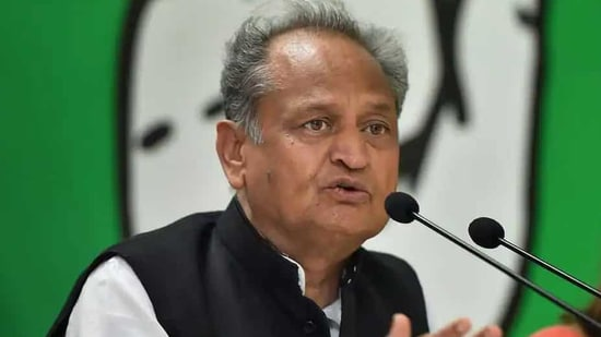 Rajasthan chief minister Ashok Gehlot said experts are saying that the second wave of Covid-19 is more dangerous than the first wave.(PTI file)