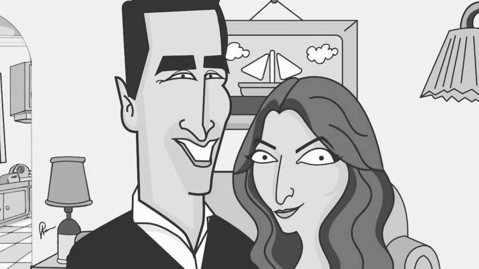 Twinkle Khanna shares adorable caricature as Akshay Kumar tests negative for Covid-19: 'Good to have him back around'