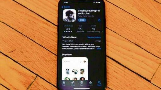 The social audio app Clubhouse had a monster first year- despite being invite-only and available only on iOS devices- seeing more than 10 million downloads.(Mint file photo)
