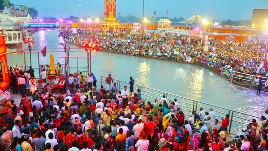 There are big crowds near the river banks who wish to take a holy dip on the occasion. (ANI file photo)