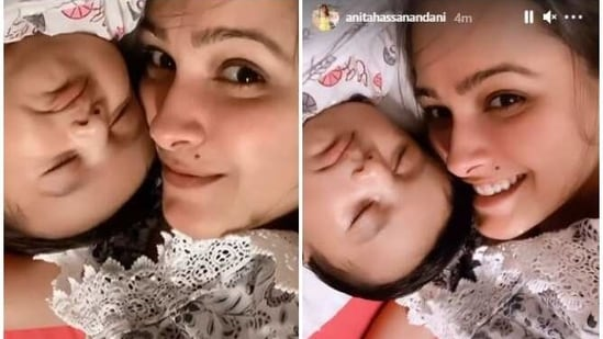 Anita Hassanandani gave birth to Aaravv Reddy in February this year.