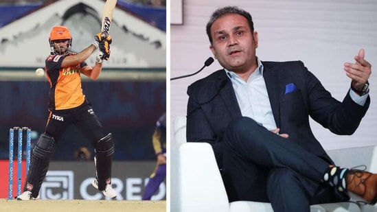 Manish Pandey and Virender Sehwag.(ANI/HT)