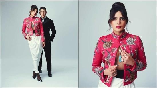 Priyanka Chopra's bold blazer, 'hot date' Nick Jonas set BAFTA Awards on fire(Instagram/priyankachopra)