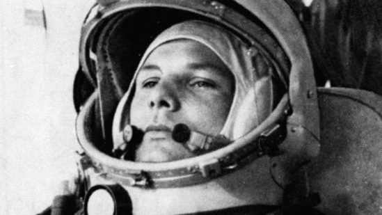 Soviet cosmonaut Major Yuri Gagarin, first man to orbit the earth, is shown in his space suit. Soviet cosmonaut Yuri Gagarin became the first human in space 60 years ago.(AP file photo)