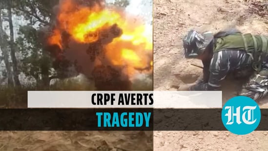 CRPF destroys bomb planted by Naxals in controlled explosion in Chhattisgarh
