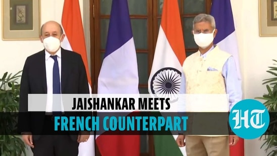 EAM S Jaishnakar meets French counterpart Jean-Yves Le Drian