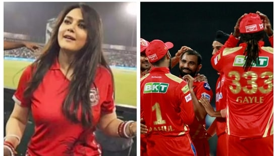 Preity Zinta reacts after PBKS victory in IPL 2021