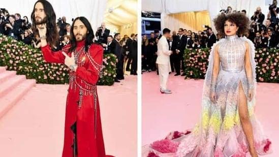 Jared Leto (left) and Priyanka Chopra at the Met Gala 2019