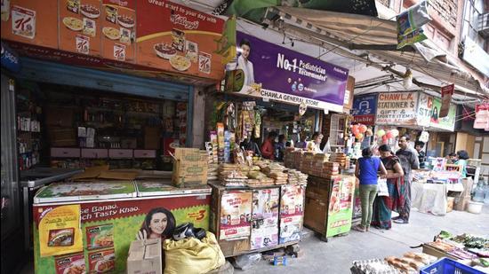 DDA Market at Mayur Vihar in New Delhi. (HT archive)