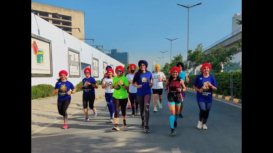 Runners sporting turbans got together in Gurugram, to mark this annual event.