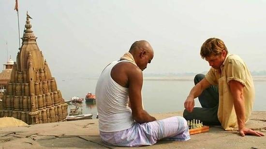 Brad Pitt in Varanasi.