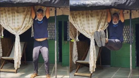 Locked down in Alibaug, Milind Soman needs no gym to get fitness dose | Watch(Instagram/milindrunning)
