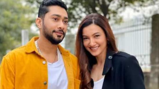 Gauahar Khan shared a series of pictures with husband Zaid Darbar.