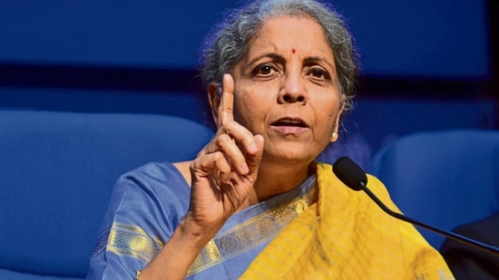 Finance minister Nirmala Sitharaman. The Centre will respond to any requirement of the industry, particularly MSMEs, so that economic activities are not disrupted, said officials. HT PHOTO(MINT_PRINT)