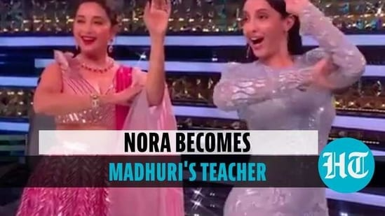 Nora and Madhuri danced together on the show 'Dance Deewane' (Instagram)