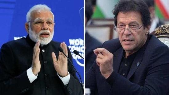 Indian Prime Minister Narendra Modi and his Pakistan counterpart Imran Khan.(Reuters)
