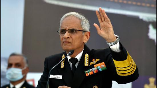 Indian Navy chief Admiral Karambir Singh on Wednesday said the Quad had started as a consultative grouping and has evolved and grown organically. (PTI PHOTO.)