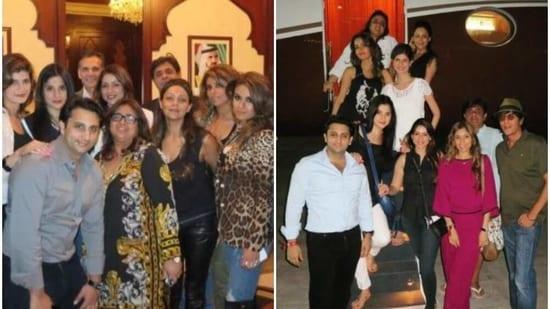 Maheep Kapoor, Gauri Khan and Bhavana Pandey with her Bollywood friends.