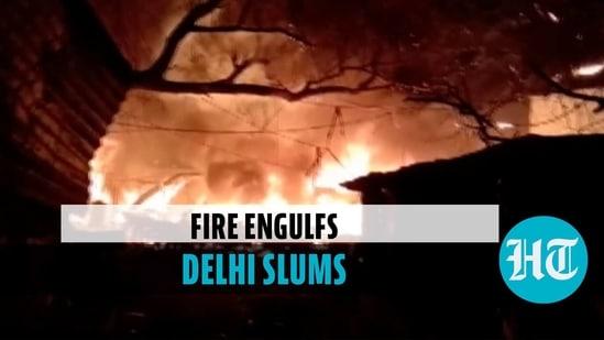 Massive fire breaks out in West Delhi's Punjabi Bagh