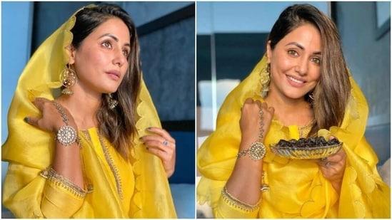 Hina Khan wishes fans Ramadan Mubarak(Instagram/realhinakhan)