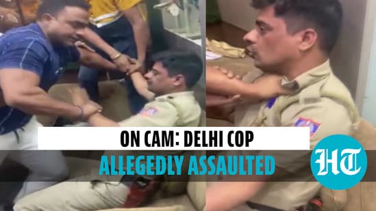 Delhi police personnel allegedly assaulted by man, video goes viral