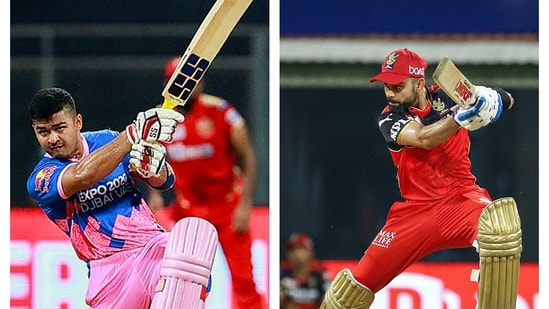 Riyan Parag and Virat Kohli.(IPL)