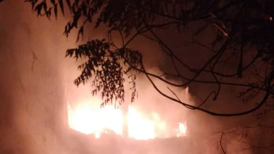 Delhi: The fire engulfed around 30 shanties including pucca structures spread across 1,500 square yards in the Paschimpuri slum cluster, officials said. (Representational Image)