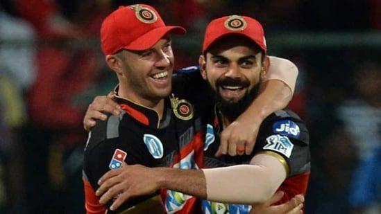 AB de Villiers and Virat Kohli.(AFP)