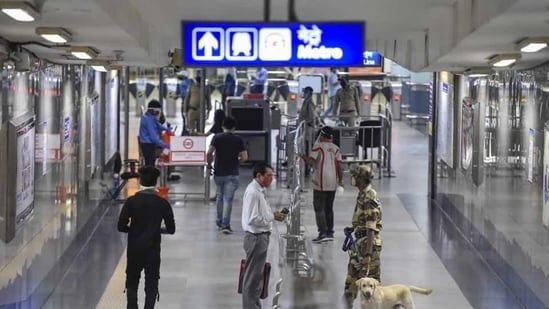 The exit gates at Rajiv Chowk and Patel Chowk metro station have also opened after they were closed for a brief period(PTI)