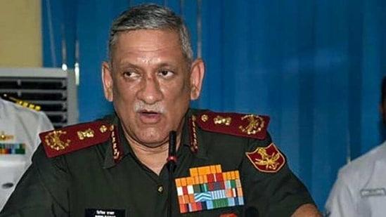 CDS Gen Bipin Rawat.(PTI)