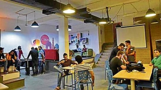 More firms may adopt a hybrid working model and include co-working spaces to give employees some flexibility.(Tribhuwan Sharma/ Hindustan Times)