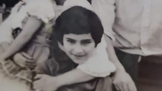 A little Saif Ali Khan poses with Sharmila Tagore in this throwback pic.