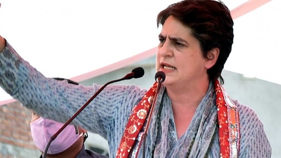 Priyanka Gandhi also tagged a social media post in which an appeal was made to Prime Minister Narendra Modi to intervene to deal with the alleged lack of oxygen supply for people affected with Covid-19 in Varanasi.(ANI)