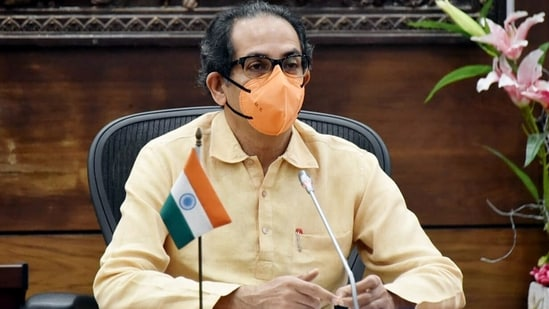 Maharashtra Chief Minister Uddhav Thackeray chaired a meet of all Divisional commissioners, Collectors, SPs, and prominent doctors of District government hospitals to review the Covid-19 situation, in Mumbai on Friday. (ANI Photo)