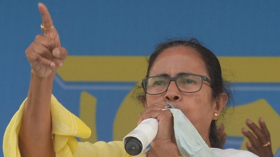 """""""I can say that after the elections are over, BJP will not even get 70 out of total of 294 seats,"""" West Bengal chief minister Mamata Banerjee said.(AFP)"""