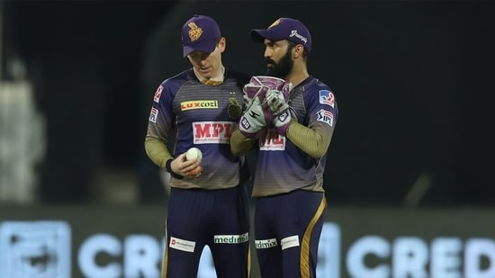Eoin Morgan and Dinesh Karthik(IPL)