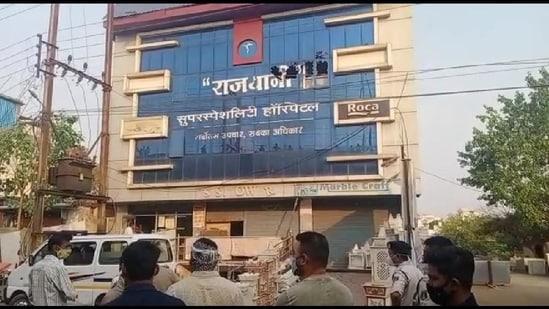 The incident took place in Raipur's Rajdhani hospital.(Screengrab)