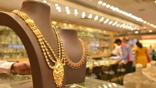 The fresh coronavirus-induced restrictions have led to a decline in physical gold purchases in India.(HT File Photo)