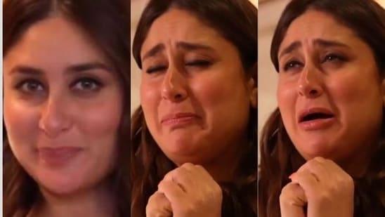 Kareena Kapoor goes through varied emotions as she bakes stuffed pizza.