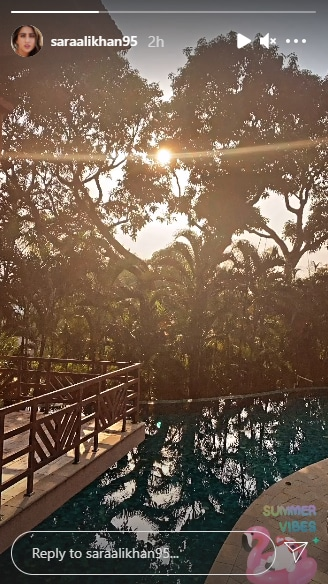 Sara Ali Khan shares her view from the Maldives.