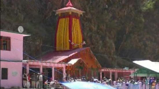 The Yamunotri shrine in Uttarakhand state. (HT PHOTO.)