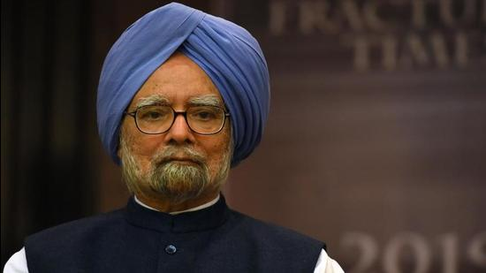Former Prime Minister Dr. Manmohan Singh pointed out that the key to the fight against Covid-19 must be ramping up the domestic vaccination effort. (HT PHOTO.)