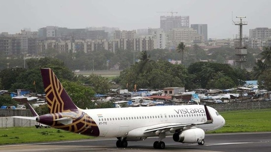 This decision was taken as three passengers on Vistara's Mumbai-Hong Kong flight on Sunday tested positive for Covid-19 on arrival. (REUTERS)(HT_PRINT)