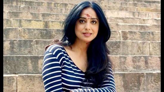 Mahie Gill at Assi Ghat in Varanasi (Sourced)