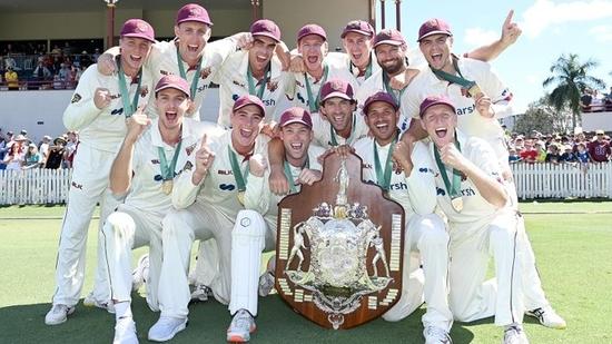 Queensland has won its ninth Sheffield Shield first-class cricket title in Australia(Twitter)