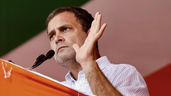 Congress leader Rahul Gandhi on Sunday suspended all his public rallies scheduled in West Bengal in view of the rising Covid-19 cases in the state and country.(PTI Photo)