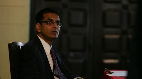"""Justice Dhananjay Chandrachud said he admired a lawyer's """"ability to fast for full days without a drop of water"""".(HT Photo/Anand Shinde)"""
