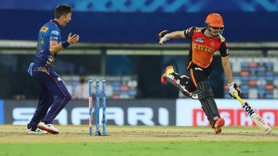 Abdul Samad gets run out. (IPL/Twitter)