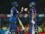 DC batsmen Shikhar Dhawan (L), Marcus Stoinis (R)(IPL)
